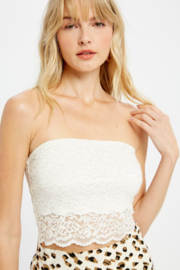 Wishlist Lace Bandeau - Front cropped