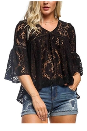 Anama Lace Bell-Sleeve Blouse - Front cropped