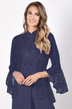 Frank Lyman Lace Bell Sleeve Jacket - Product List Image