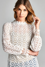 Racine Lace Bell-Sleeve Top - Product Mini Image