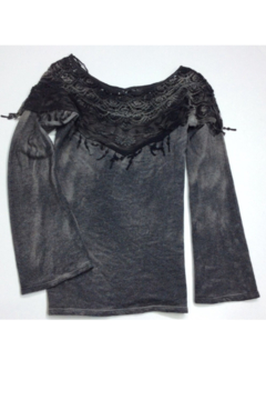 T Party Lace Boat Neck Top - Alternate List Image