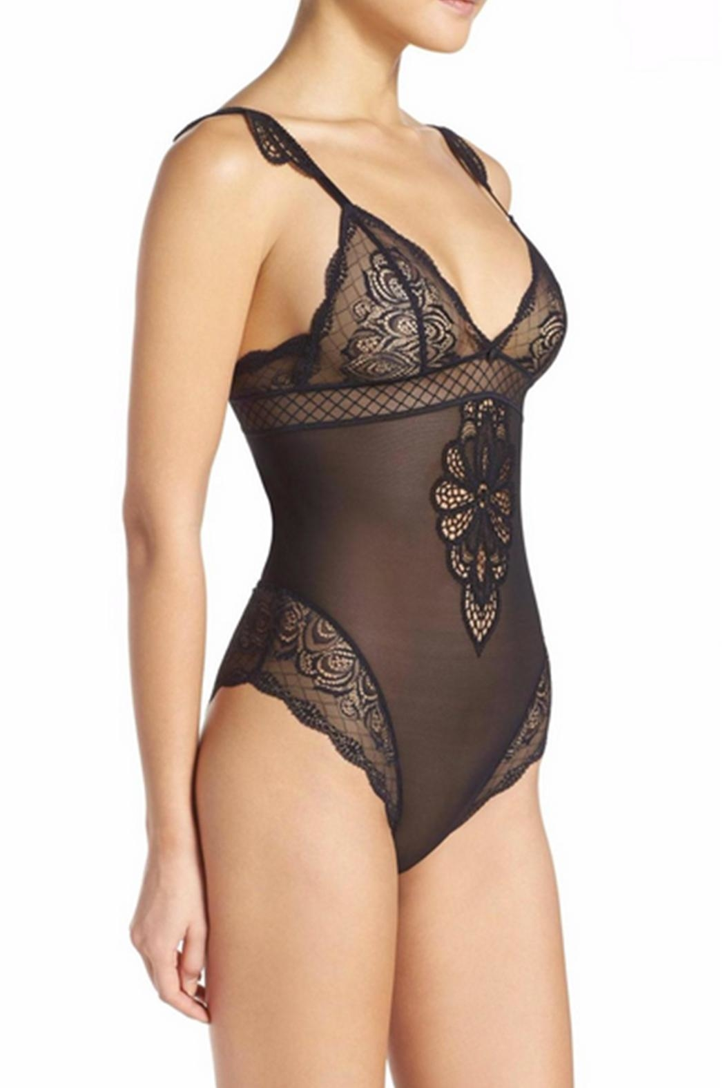 Simone Perele Lace Body Suit - Side Cropped Image
