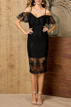 Main Strip Lace Bodycon Dress - Product List Image
