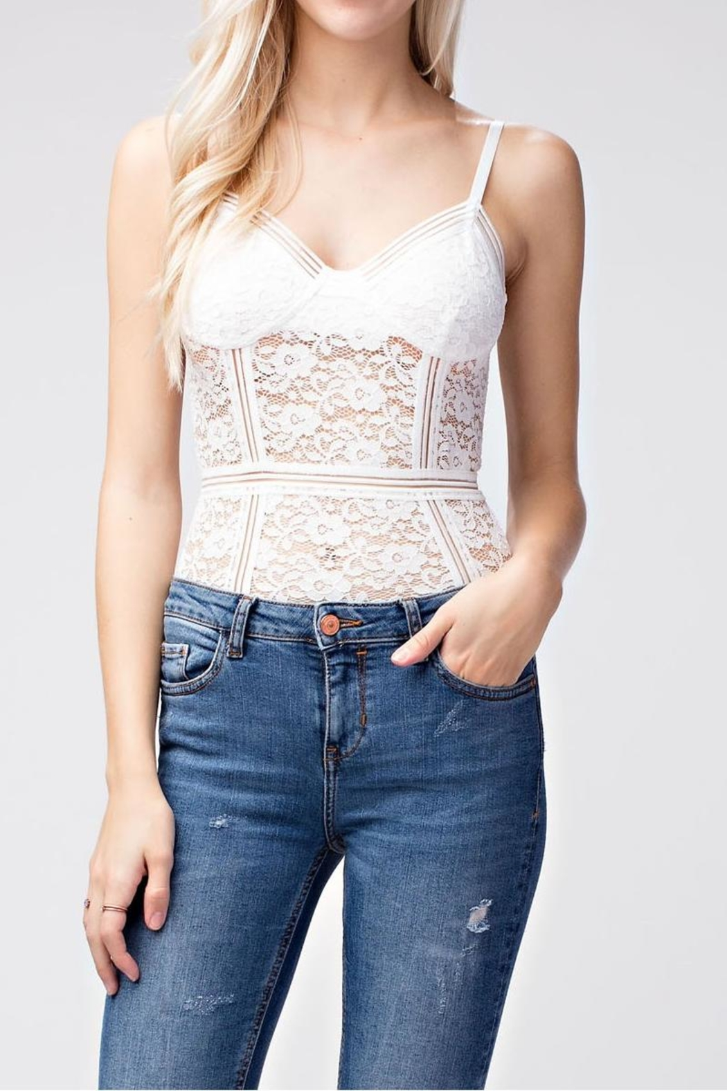 Wild Honey Lace Bodysuit - Main Image