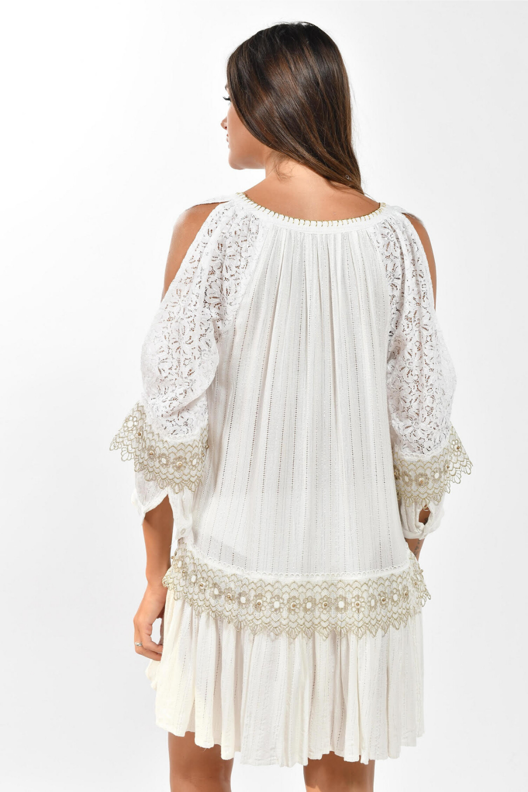 BAROK PARIS  Lace Boho Dress - Front Full Image