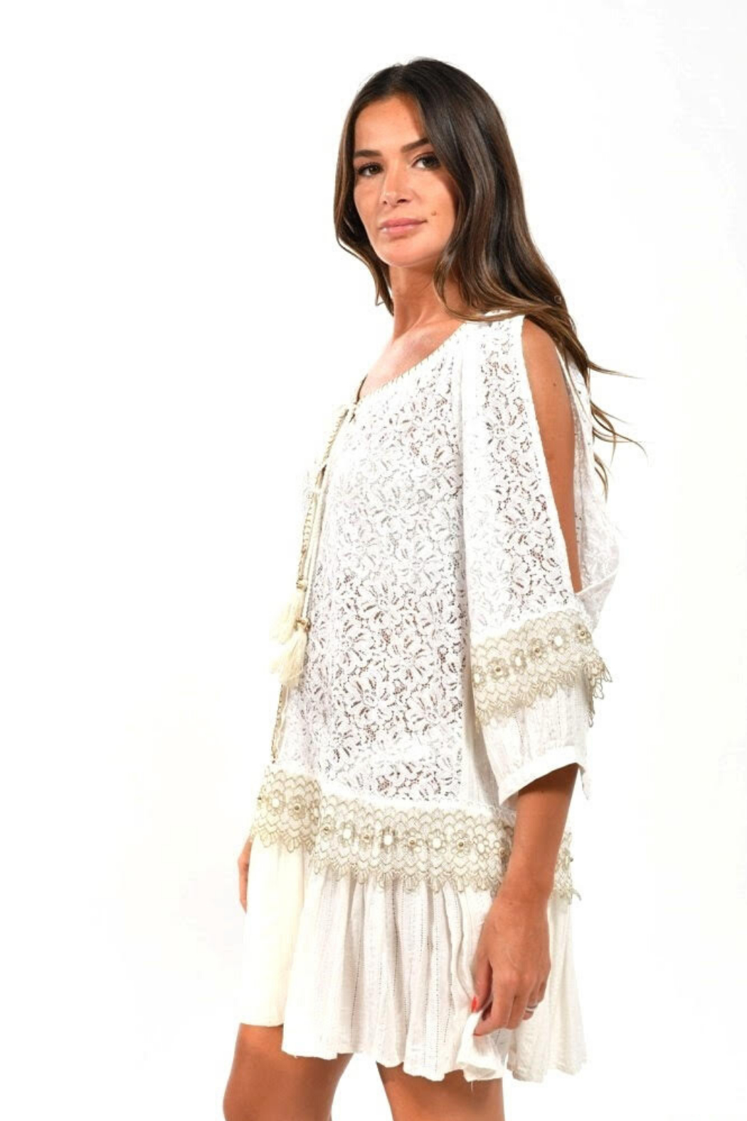BAROK PARIS  Lace Boho Dress - Main Image
