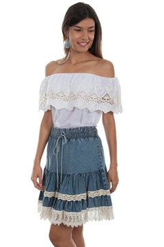 Scully Lace Boho Skirt - Product List Image