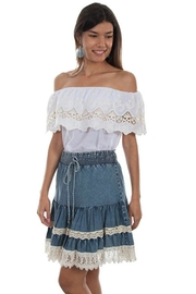 Scully Lace Boho Skirt - Product Mini Image