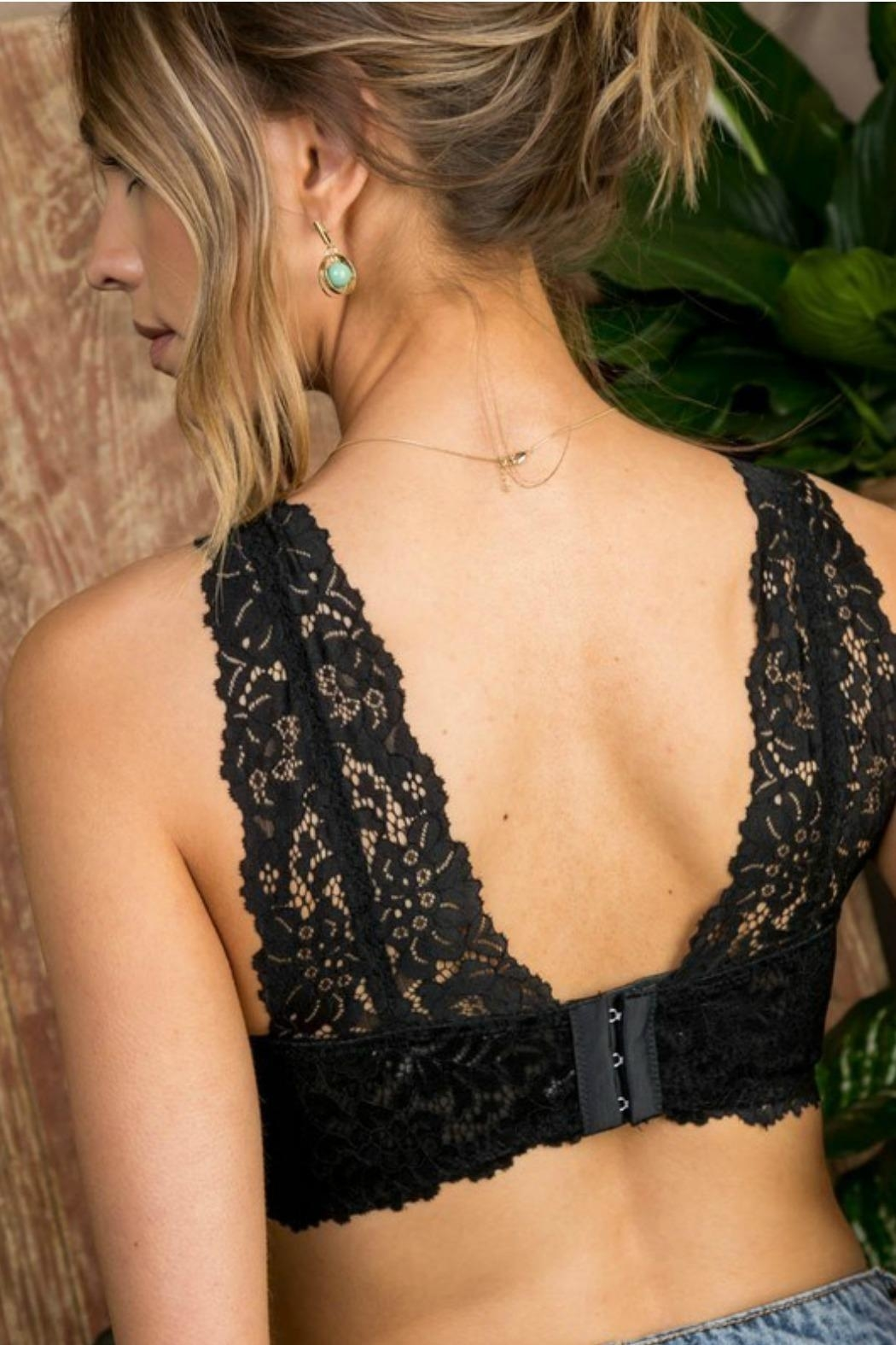 Main Strip Lace Bra Top - Back Cropped Image