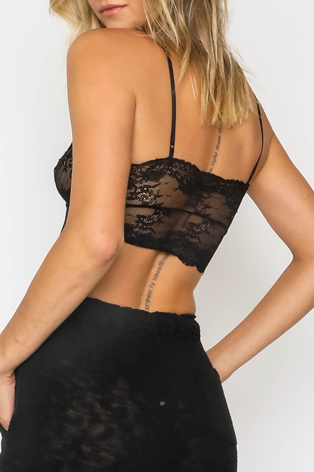 Olivaceous  Lace Bralette - Front Full Image