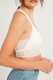 Listicle Lace Bralette - Front full body