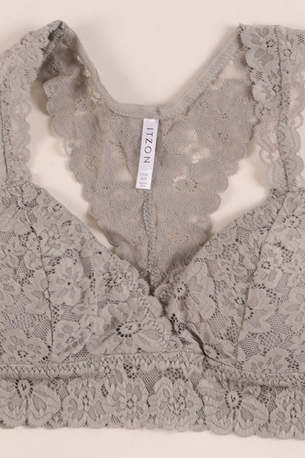 Lyn-Maree's  Lace Bralette - Front Cropped Image