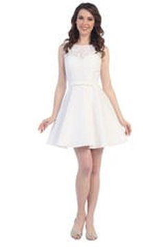 Cindy Collection Lace Bridesmaid Dress - Alternate List Image