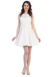 Cindy Collection Lace Bridesmaid Dress - Product Mini Image