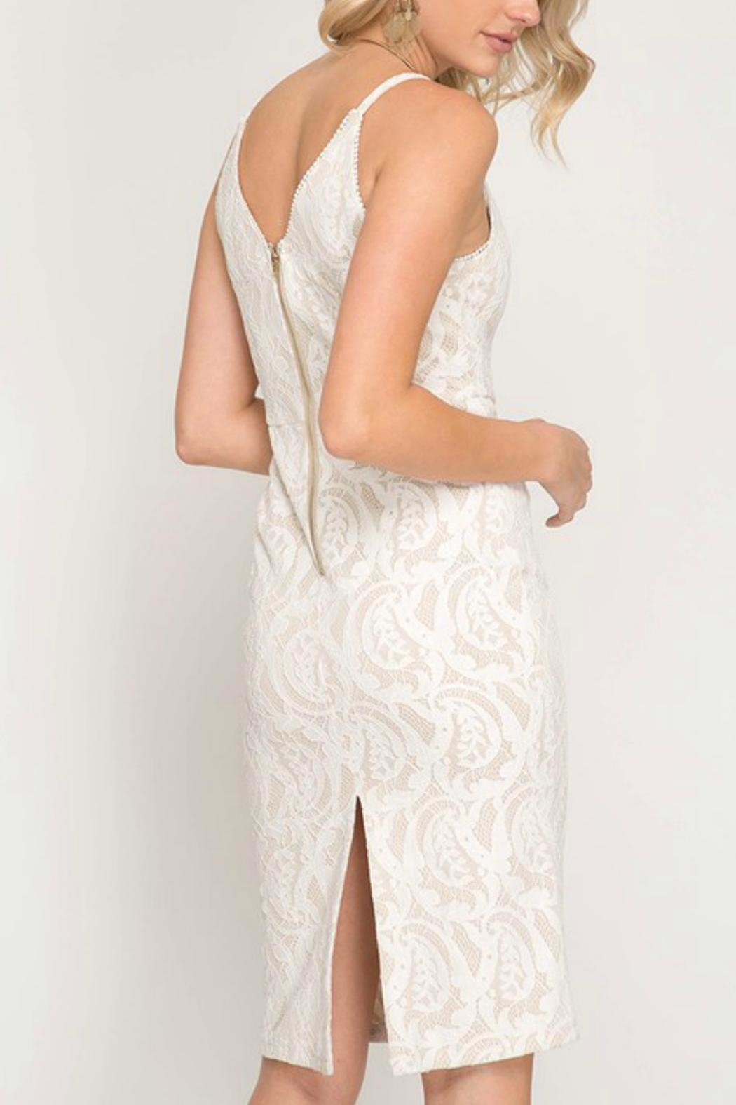 ALB Anchorage Lace Cami Dress - Front Full Image