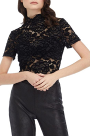 Frank Lyman Lace cap sleeve top - 219180 - Front cropped