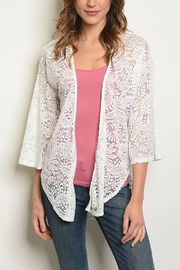 Lyn-Maree's  Lace Cardi - Front cropped