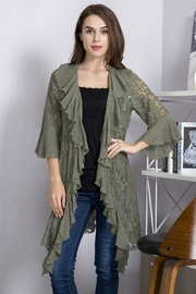 sassy Bling Lace Cascade Cardigan - Product Mini Image