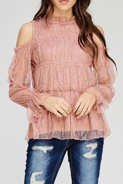Shoptiques Product: Lace Cold-Shoulder Top