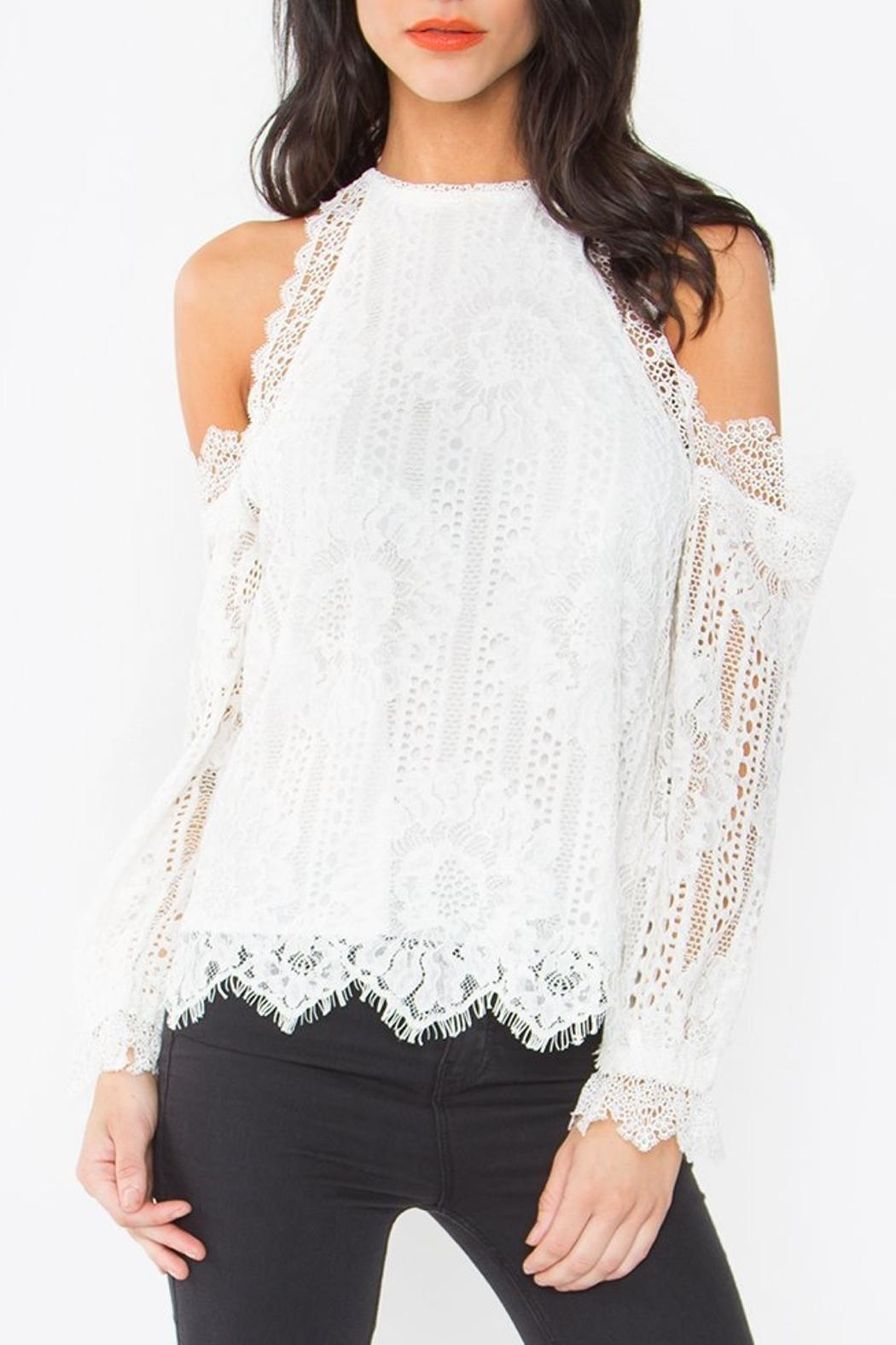 Lace Cold Shoulder Top by Dressing Room Boutique, Florida