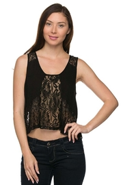 ambiance apparel Lace Contrast Top - Product Mini Image