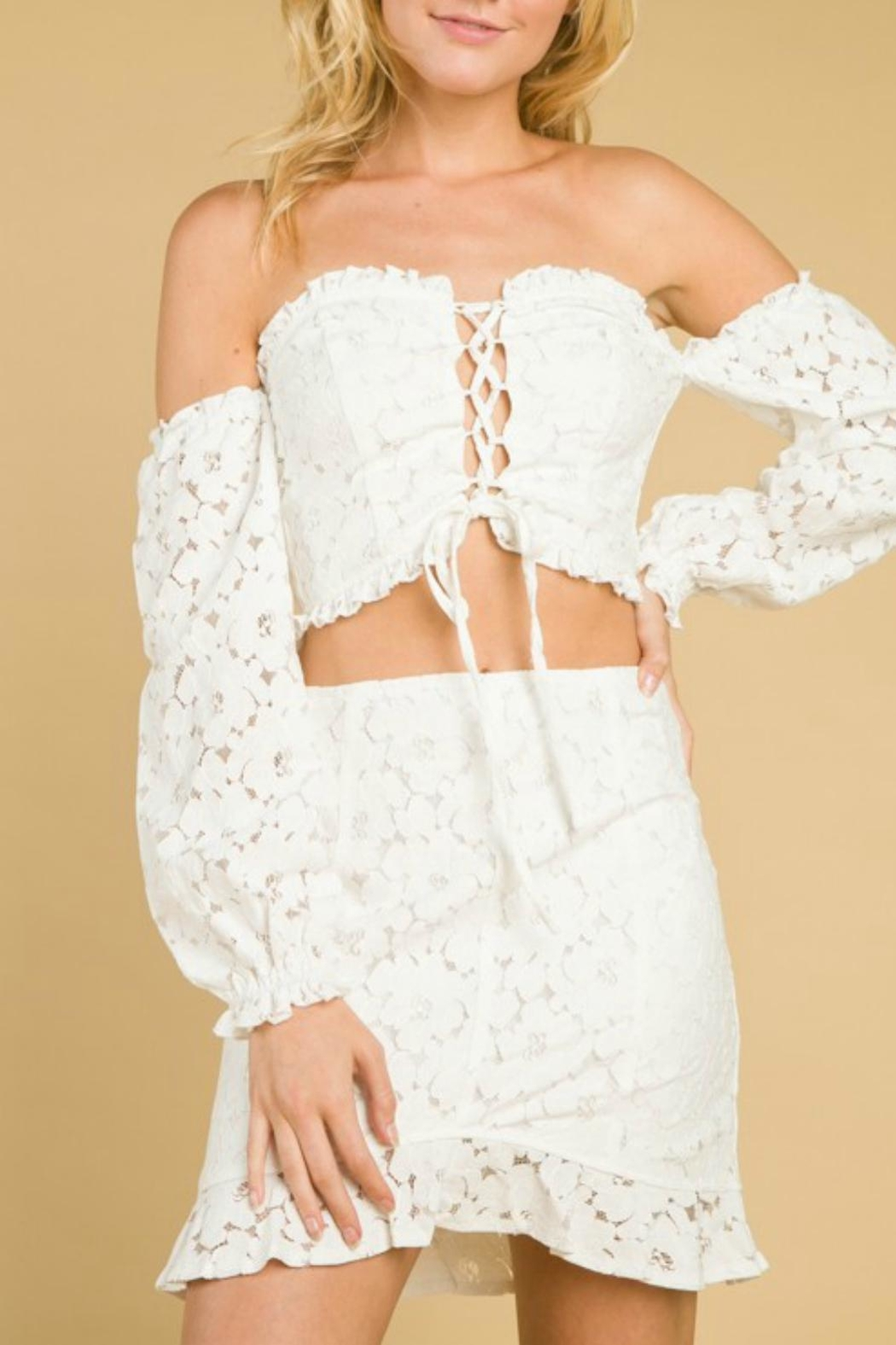 Pretty Little Things Lace Corset Top - Main Image