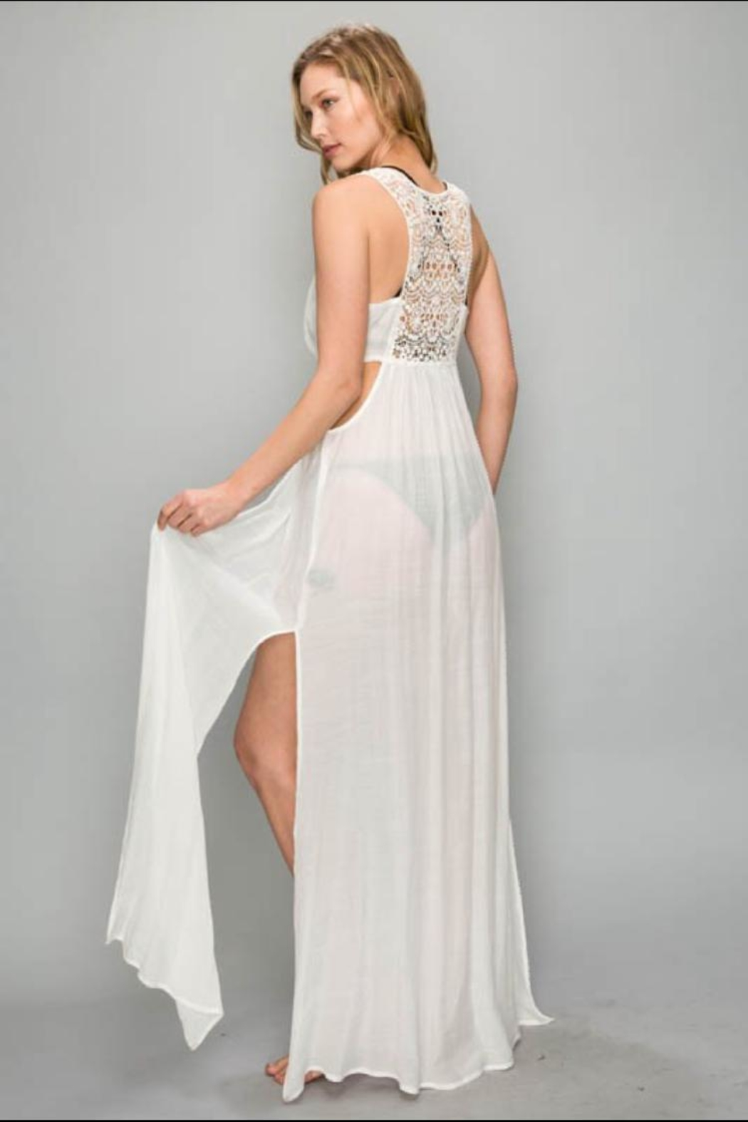 AAKAA Lace Cover-Up Dress - Front Full Image