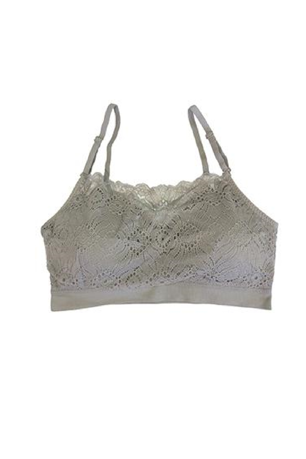 Coobie Lace coverage bralette - Front Cropped Image