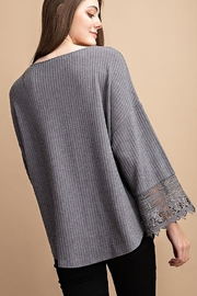 FSL Apparel Lace Crochet Contrast Top - Side cropped