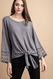 FSL Apparel Lace Crochet Contrast Top - Front full body