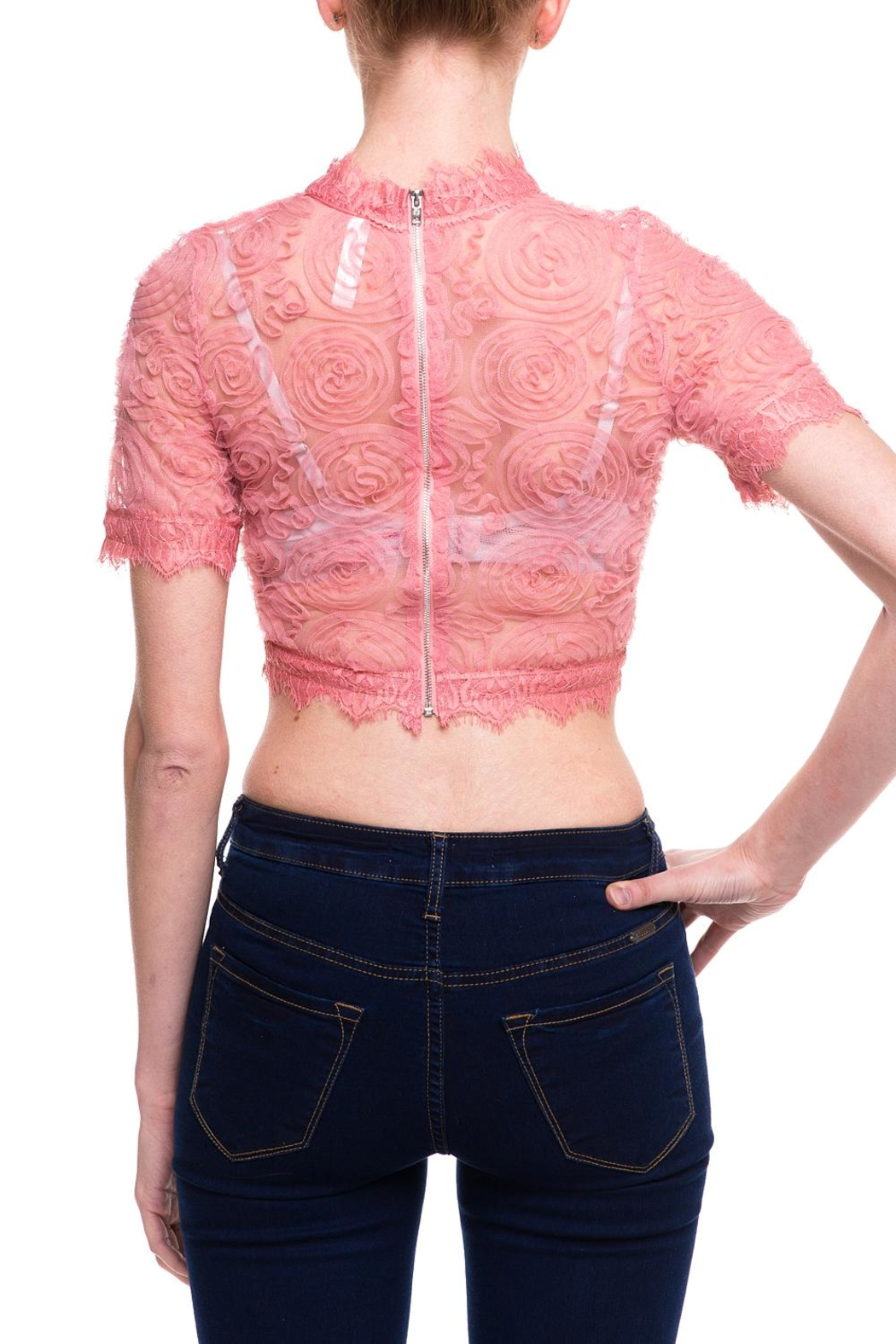 Love Song Lace Crop Top - Back Cropped Image