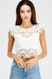 Love Song Lace Crop Top - Product Mini Image