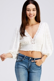Cotton Candy LA Lace Crop Top - Product Mini Image