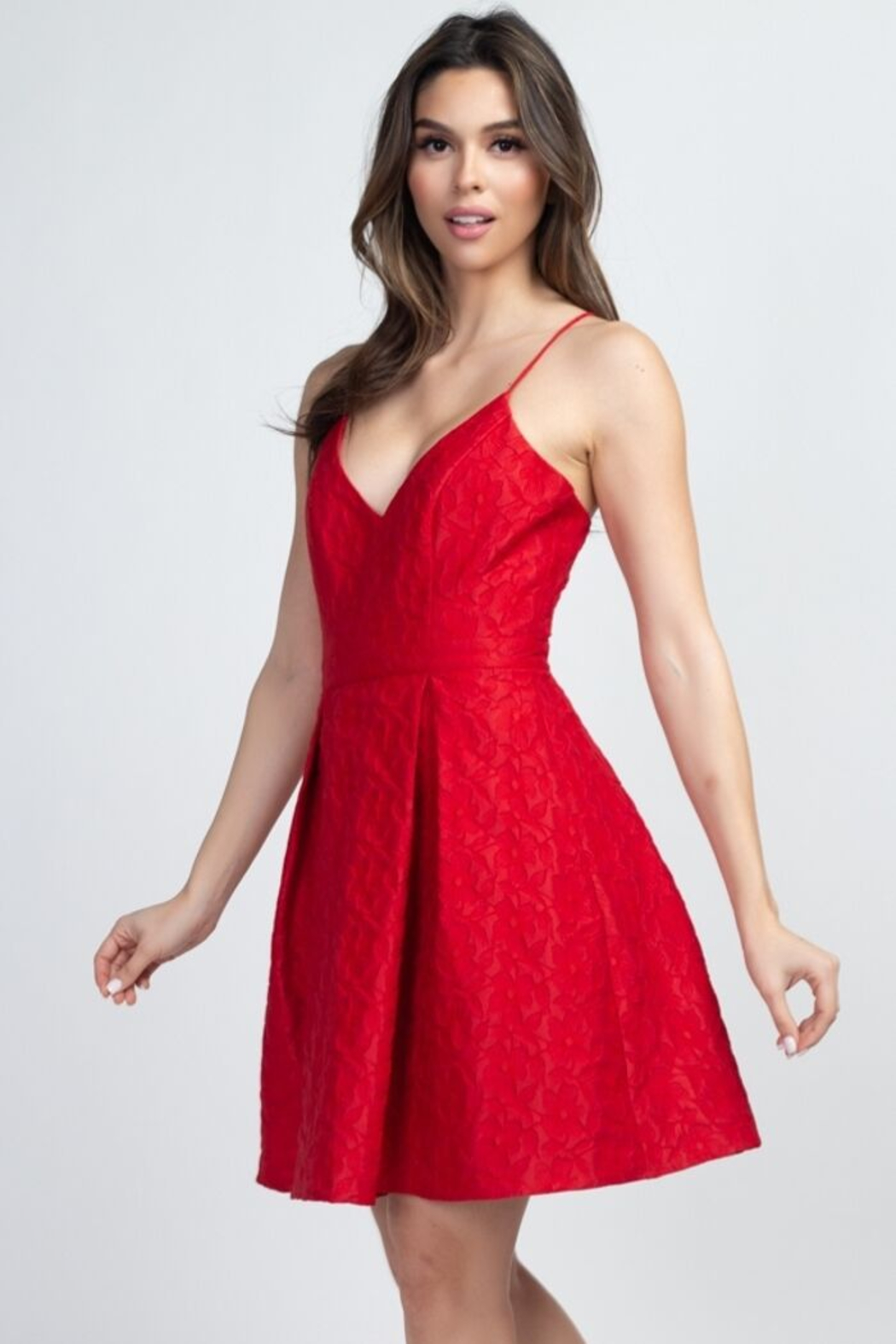 Minuet Lace Cut-Out Dress - Front Full Image