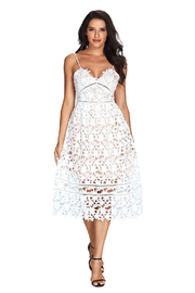 R+D  Lace Cut Out Midi - Product Mini Image