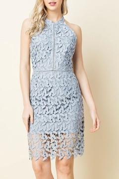 Blushing Heart Lace Cutout Dress - Product List Image