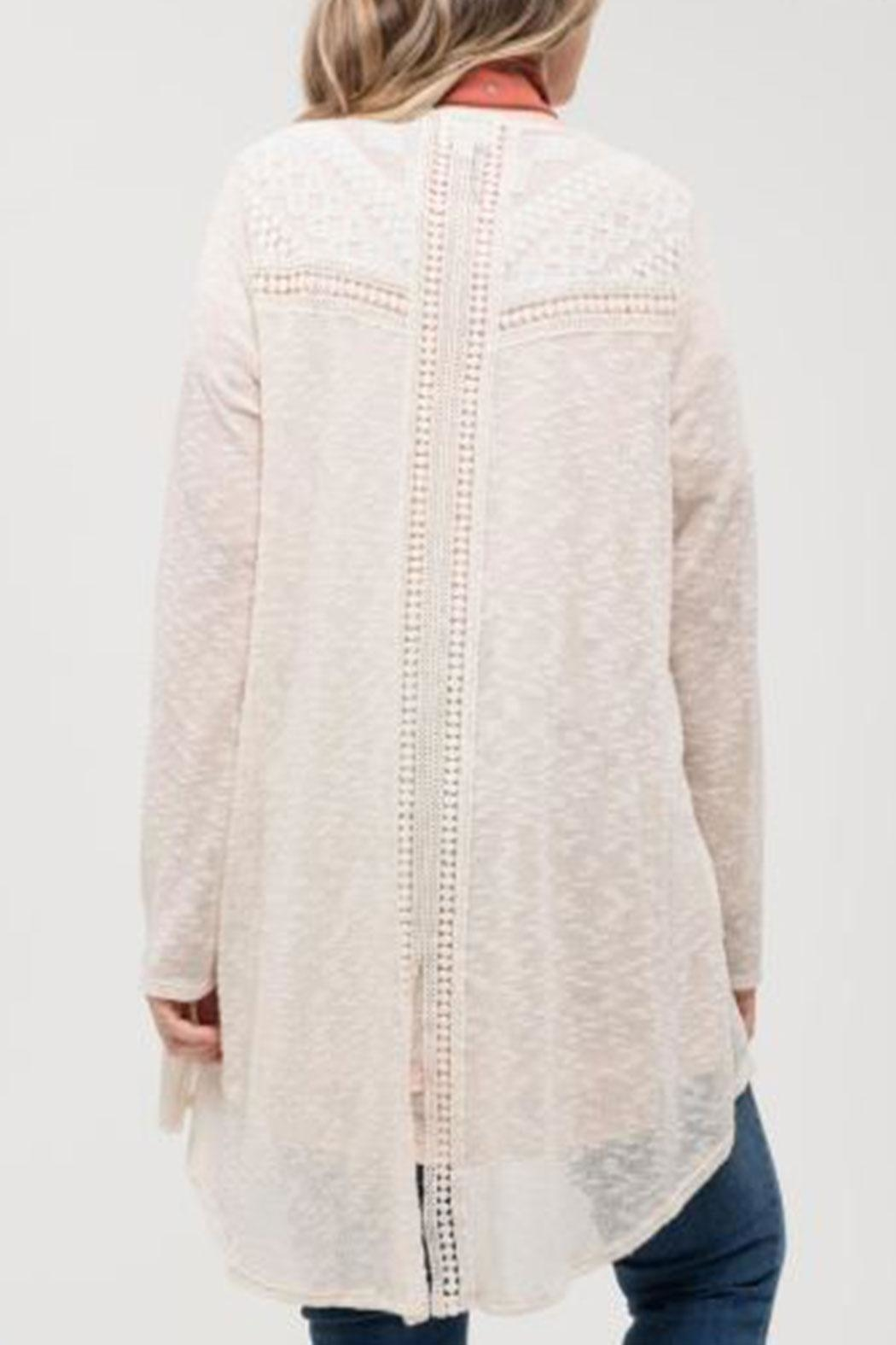 Blu Pepper Lace Detail Cardigan - Front Full Image