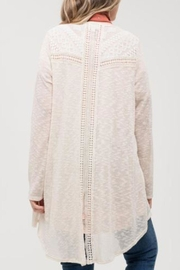 Blu Pepper Lace Detail Cardigan - Front full body