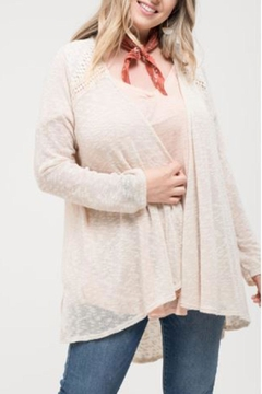 Blu Pepper Lace Detail Cardigan - Product List Image