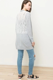 Olivia Pratt Lace Detail Cardigan - Product Mini Image