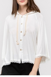 POL Lace Detail Hoodie - Front full body