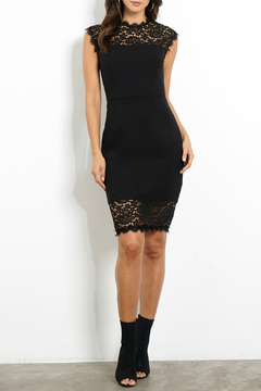 Three Dots Lace Detail Pencil Dress - Product List Image