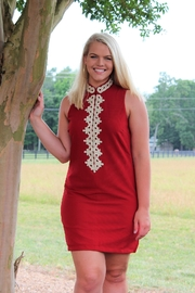 Aryeh Lace Detail Shift Dress - Front full body