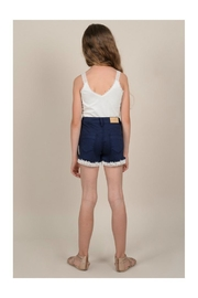 Mini Molly Lace Detail Shorts - Back cropped