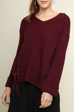 Umgee USA Lace Detail Sweater - Product List Image