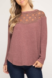 She + Sky Lace Detail Thermal - Product Mini Image