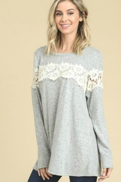 vanilla bay Lace Detail Top - Product List Image