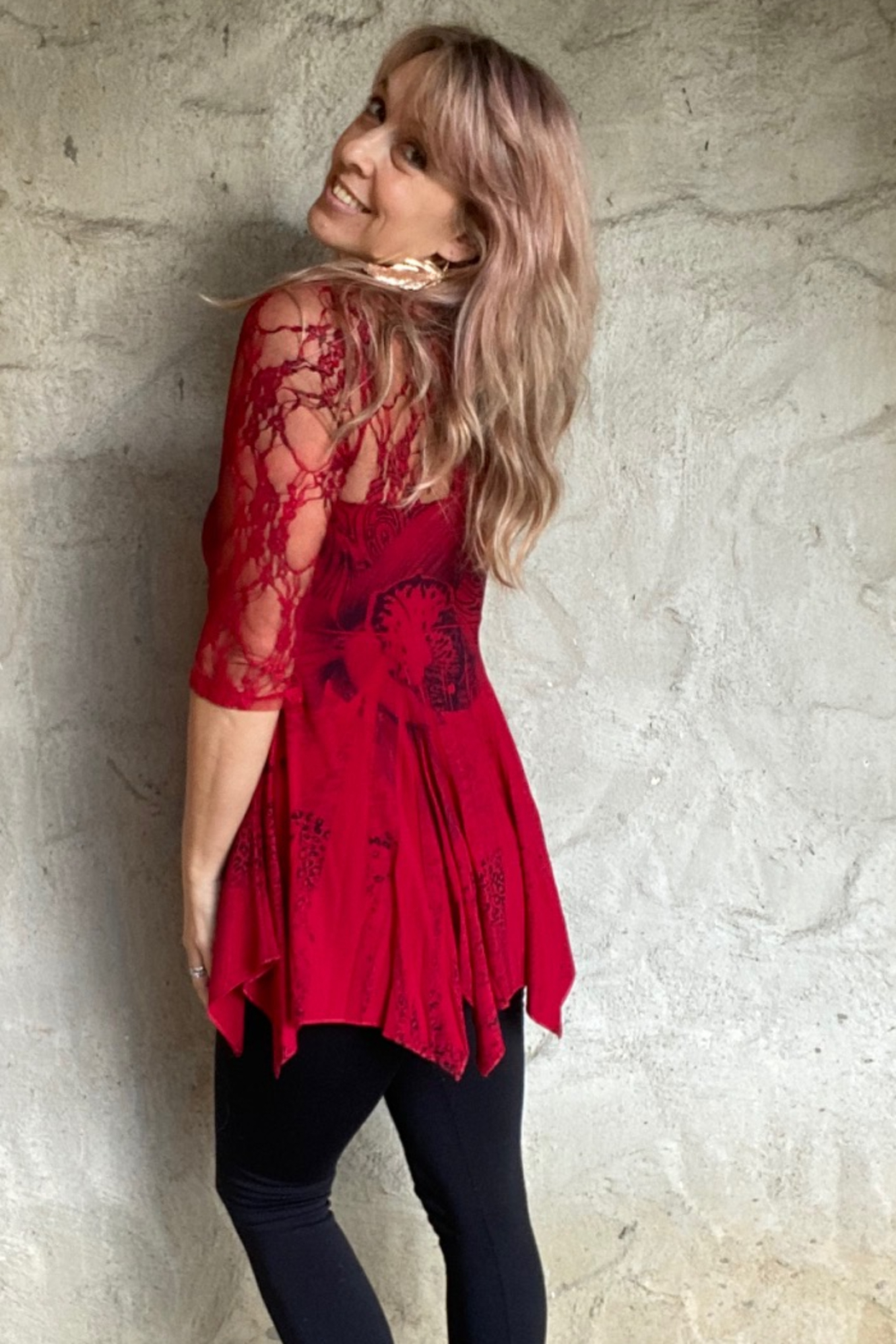 Apparel Love Lace Detail Tunic - Main Image
