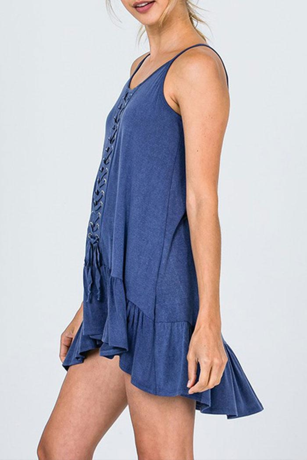CY Fashion Lace Detail Tunic-Top - Side Cropped Image