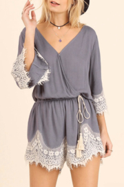 Umgee USA Lace Detailed Romper - Product Mini Image